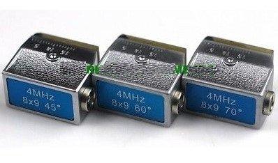 Gowe® 4Mhz 8X9Mm, 45º+60º+70º Angle Beam Probe Transducer-Ultrasonic Flaw Detector Meter Tester