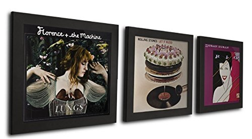 Art Vinyl Play and Display Record Frame, 3-Pack, Black (Display Record compare prices)