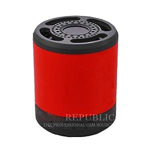 Nouvel iPhone / iPad / iPod HiFi rouge métal sans fil Bluetooth Batterie 3W Mini haut-parleur MIC, Construit en TF (MicroSD) Lecteur