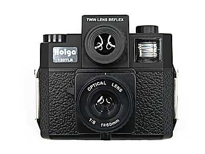Buy Holga 120TLR TWIN LENS REFLEX 120 W/COLOR FLASH - BLACK