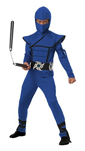 California Costumes Stealth Ninja Child Costume (Blue), Small by California Costumes