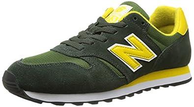 New Balance M373 D (14H), Unisex-Erwachsene Sneakers, Grün (SGY GREEN/YELLOW), 40.5 EU (7 Erwachsene UK)