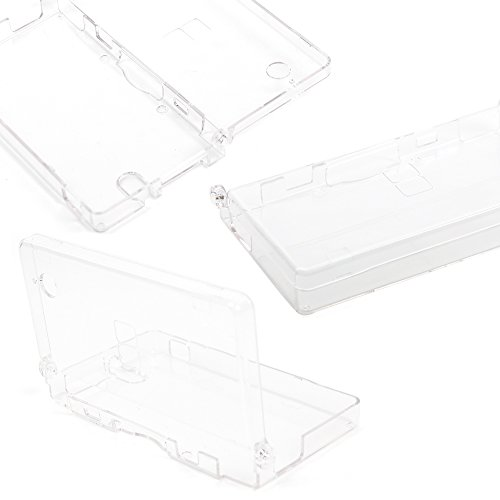 DURAGADGET Crystal Clear Hard Plastic Protective Shell Case - Compatible with the Nintendo DSi Regular Gaming Console