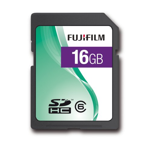 Fujifilm 16GB 60x Speed 9MB/sec Class 6 SDHC SD Card