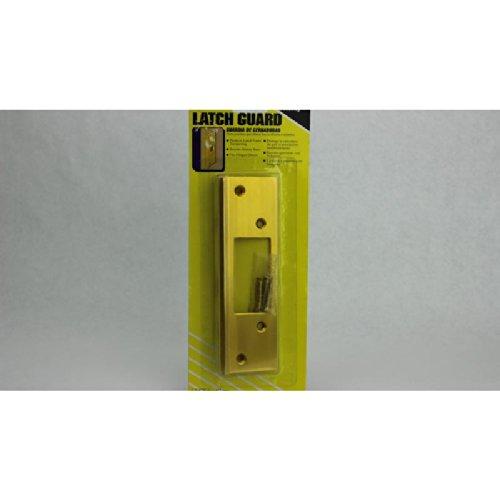 Prime Line U9482 Mag Security Door Lock Guards, Brass front-211032