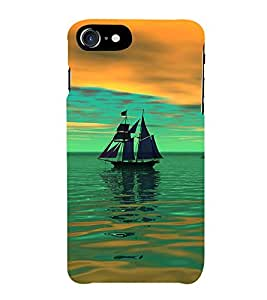 Fiobs Saling Boat Lovely Phone Back Case Cover for Apple iPhone 7 (4.7 Inches)