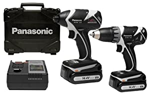 Panasonic EYC140B11 14.4-Volt Lithium Ion Impact Driver/Drill Driver Combo Kit