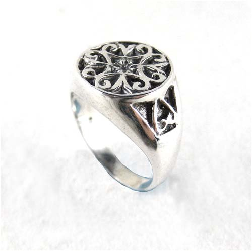 Sterling Silver Celtic Signet Ring, Size 7