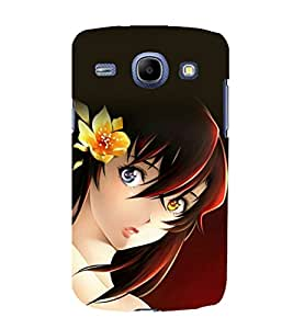 printtech Beautiful Anime Girl Flower Back Case Cover for Samsung Galaxy A3 / Samsung Galaxy A3 A300F