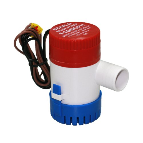 "Seaflo Brand New 1100GPH 12V 3A Electric Submersible Bilge Pump with 1.125"" Outlet for Marine Fishing Boat Runabouts Cruisers Yachts Boat Shops Boaters"