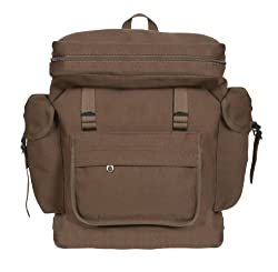 Earth Brown European Style Rucksack Backpack