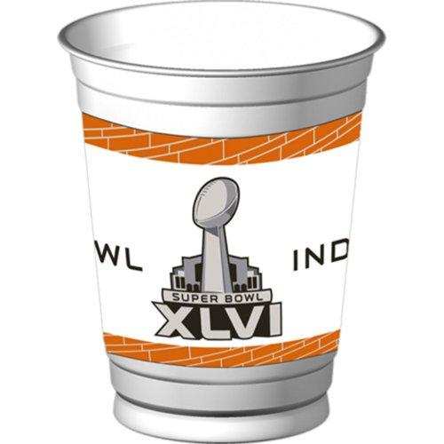 Super Bowl Xlvi - 14 Oz. Plastic Cups Party Accessory Picture