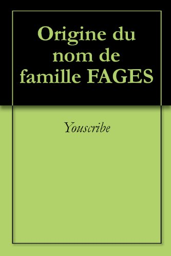 origine-du-nom-de-famille-fages-oeuvres-courtes-french-edition