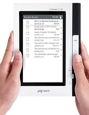 JAY-tech EB12 17,8 cm (7 Zoll) eBook-Reader (Rockchip, RK2729, 2GB RAM, 2GB HDD, 800 x 480 Pixel, 3,5mm Klinkenstecker, SD-Kartenslot) schwarz/weiß