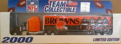NFL Team Collectible 1:80 Scale Replica Tractor-trailer Cleveland Browns