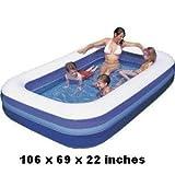 Bestway's Rectangular Splash and Play Family Pool