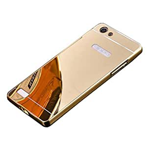 Novo Style Luxury Shiny Bling Glitter Metal Clear Aluminum Frame Cover Ultra Thin Slim Bumper Hard Back Case Cover For Oppo Neo 7 - Golden