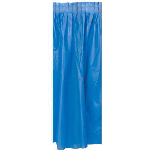 Masterpiece Plastic Table Skirting (medium blue) Party Accessory  (1 count) (1/Pkg)