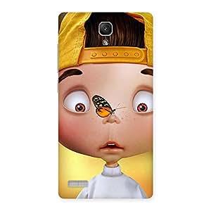 Impressive Confused Funny Boy Back Case Cover for Redmi Note