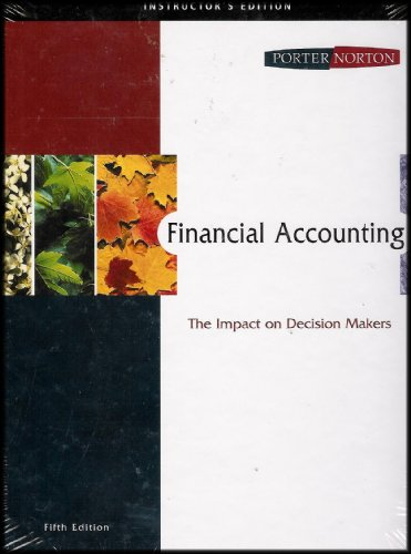 Financial Accounting: The Impact on Decision Makers [Instructor's Edition]