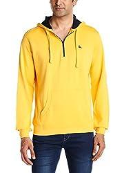 Parx Men's Cotton Blend Sweatshirt (8907249753907_XMKF02531-Y5_42_Medium Yellow)