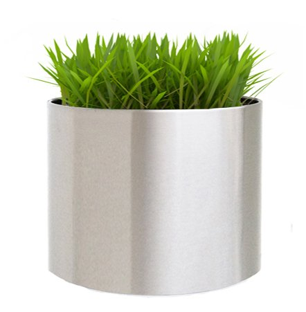 Brushed Stainless Steel Planter - Extra Large - 24