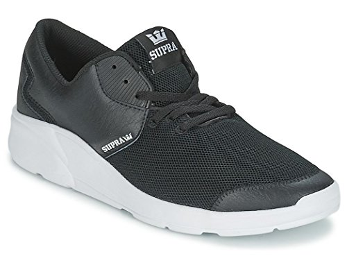 Supra Noiz Black White Mens Leather Trainers Shoes -9