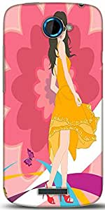 Snoogg Urban Girl 2825 Designer Protective Back Case Cover For HTC One S