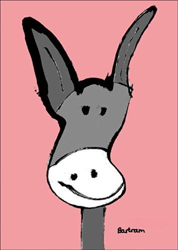 Verschicken Sie diesen süßen Esel als Gruß oder Geburtstagskarte • auch zum direkt Versenden mit ihrem persönlichen Text als Einleger.