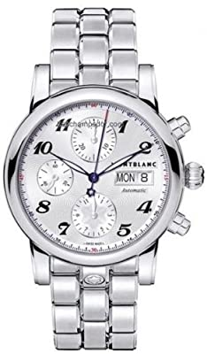 Montblanc Star Steel Collection Silver Dial Mens Watch 106468