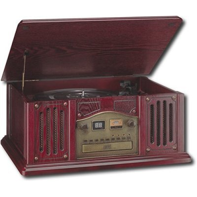 Leetac TAP-807 Nostaligia Wooden Music Center with Turntable, CD Player, AM/FM Radio (Old Fashion Turntable compare prices)