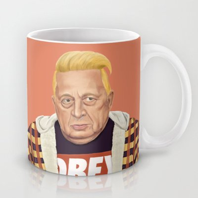 Society6 - The Israeli Hipster Leaders - Ariel Sharon Coffee Mug By Amit Shimoni