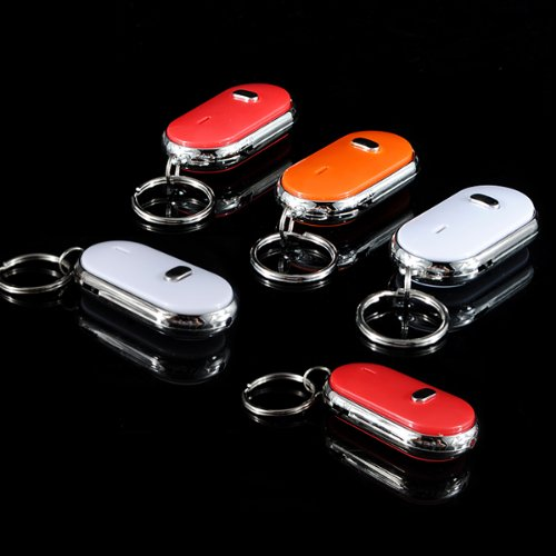 Meco(Tm) One Wireless Led Key Finder Locator Electronic Whistle Remote Keychain Random Color