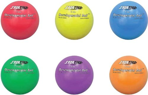 Sportime 8 Ounce Developmental Ball - 8 Inch - Set Of 6 - Multiple Colors front-959972