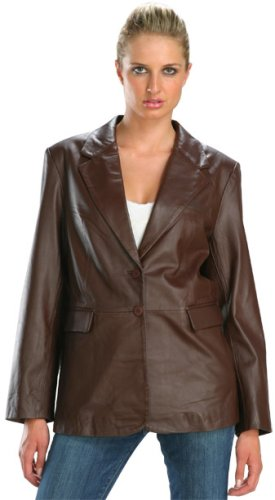 Buy Classic Brown Ladies Soft Touch Supple Lambskin Blazer