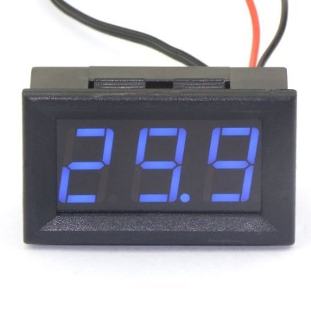 RioRand Plug In 0.56″ Tester Digital Temp Thermometer Sensor -50-110°c Temperature Gauge Blue LED 12V DC