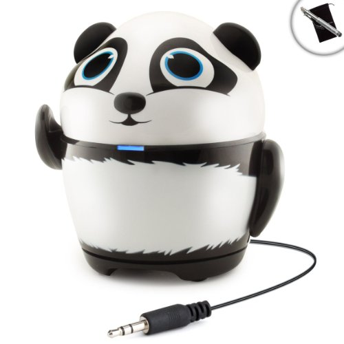 Portable Rechargeable Tablet Speaker with Panda Design by GOgroove Audio - Works With Apple iPad mini 3 , Google Nexus 9 , Sony Xperia Z4 and More Tablets **Includes Accessory Bag and Stylus**
