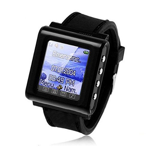 Unlocked Ak812 Lcd Screen Mp4 Music Gprs Wrist Watch Mobile Cell Phone Black