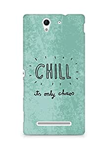 AMEZ chill its only chaos Back Cover For Sony Xperia C3 D2502