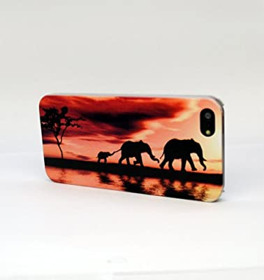 Elephants Family TPU Case for iPhone 5 / 5S by Case Q Leaf