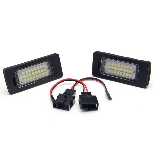 2 Pcs Of Led License Plate Light Lamp Oem Replacement Audi A4 A5 Q5 Error Free