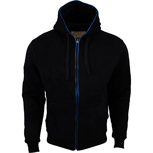 Gizmo Accessories EL LED Light Up Hoodie Slim Fitted (Men's Large / Women's X- Large, Black / Blue)