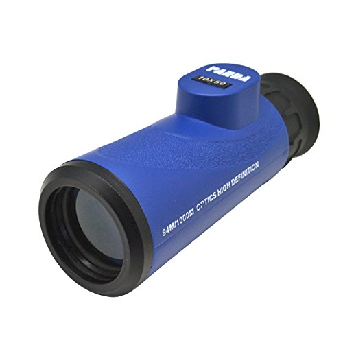 10x50 Waterproof Optics High Definition Monocular Telescope with Neck Strap for Sport Events (BLUE)