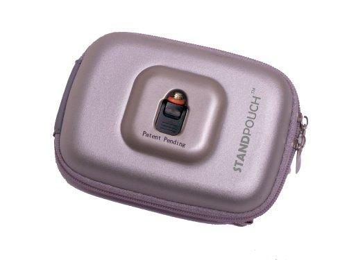 Maximal Power POU-ST-O74 Medium StandPouch Nylon Hard Shell Digital Camera Case (Silver)
