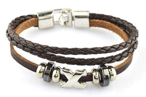 REWARD leather bracelet X 2 colors + original bracelet set REWARD (dark brown)