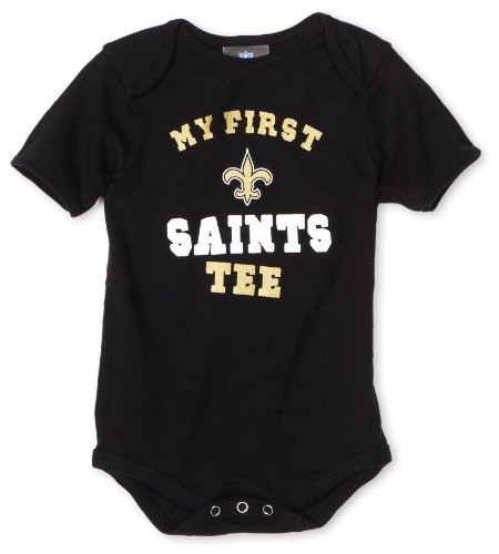 "NFL Infant/Toddler Boys' New Orleans Saints ""My First Tee"" Onesie (Black, 24 Months) at Amazon.com"