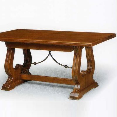 Chestnut Dining Table cm 160x85 with 4 extensions, Kitchen Table, MADE IN ITALY