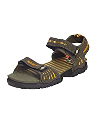 Sparx Men's Sandals And Floaters SS-209-OLIVE-YELLOW