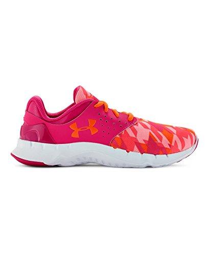 Under Armour Kids Girl's UA GGS Flow RN GR (Big Kid) Rebel Pink/Pink Craze/Afterburn Sneaker 6 Big Kid M