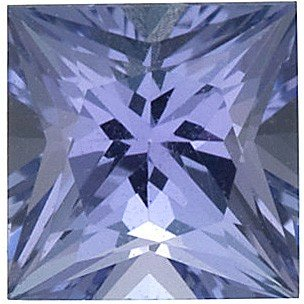 AfricaGems - Princess Shape Tanzanite Natural